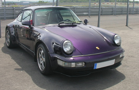 Look closely for signs of rust around the windscreen seals when buying a Porsche 964.